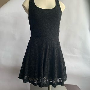 Aritzia Black Floral Lace Dress Knee length XS